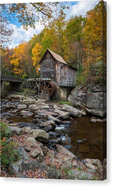 Glade Creek Grist Mill Babcock State Park Canvas Print