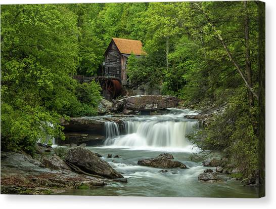 Glade Creek Grist Mill In May Canvas Print