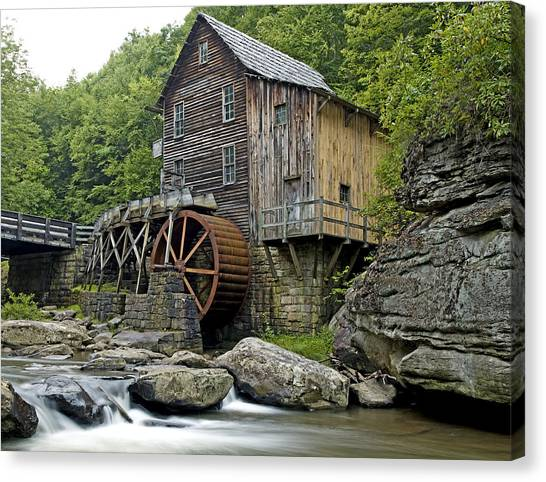 Glade Creek Grist Mill Located In Babcock State Park West Virginia Canvas Print