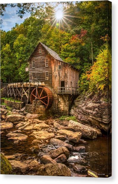 Glade Creek Mill Fall Canvas Print
