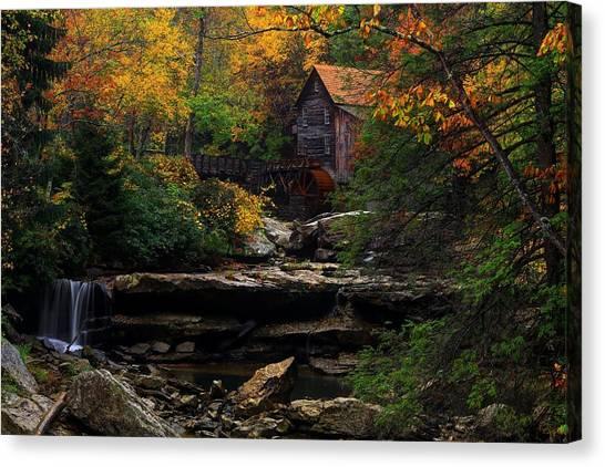 Glades Creek Grist Mill West Virginia Canvas Print