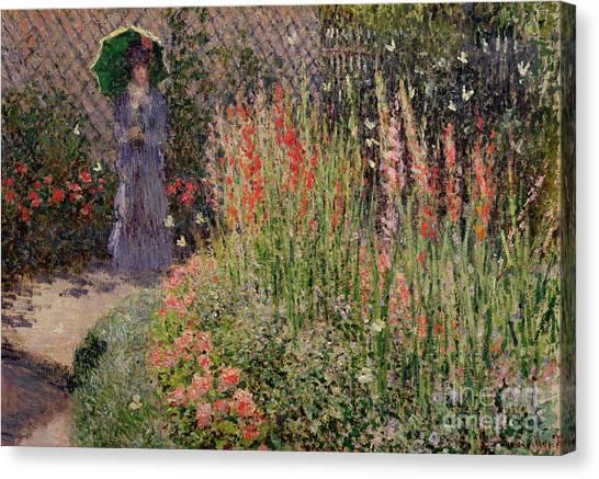 1876 Canvas Print - Gladioli by Claude Monet
