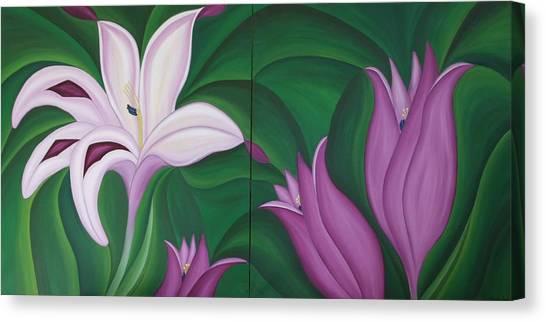 Gladiolus Carneus Canvas Print by Marinella Owens