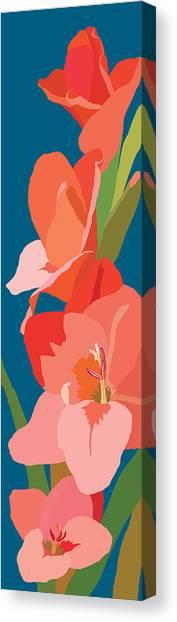 Gladiolus Canvas Print by Marian Federspiel