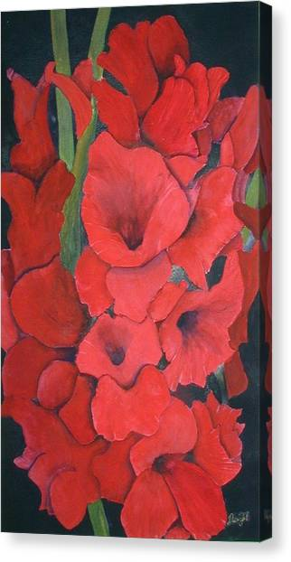 Glads Canvas Print by Dwight Williams