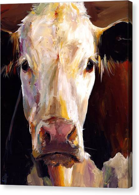 Brown Canvas Print - Gladys The Cow by Cari Humphry