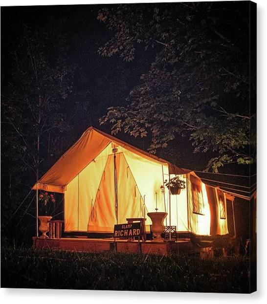 Starry Night Canvas Print - #glamping At #northriver #upstateny by Boaz Zemer