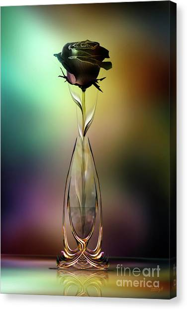 Glasblower's Rose Canvas Print