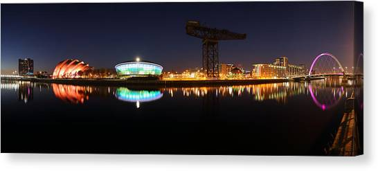 Glasgow Clyde Panorama Canvas Print