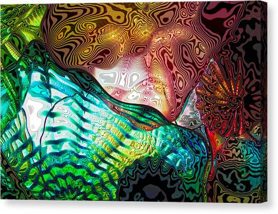 Decorative Glass Canvas Print   Glass Abstract 8 By David Patterson