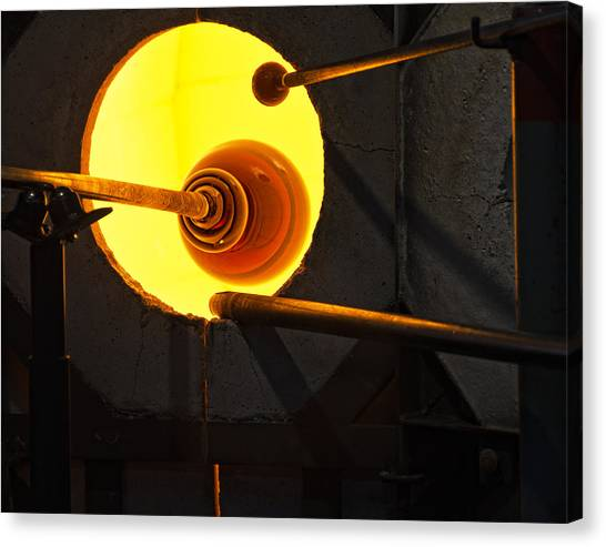 Glass Blowing Canvas Print