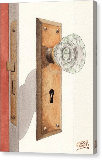 Glass Door Knob And Passage Lock Revisited Canvas Print