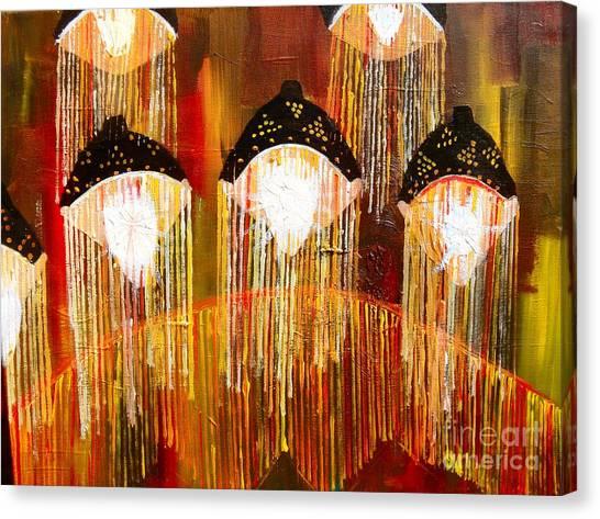 Glass Jellyfish Canvas Print by Sabrina Phillips