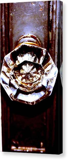 Glass Knob Canvas Print by Brenda Myers