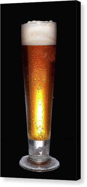 Glass Of Cold Beer Canvas Print
