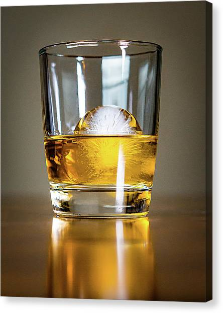 Glass Of Whisky Canvas Print