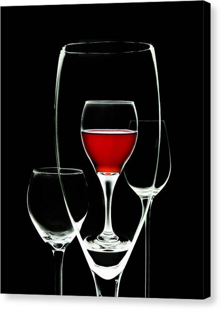 f23b51606 Wine Glass Canvas Print - Glass Of Wine In Glass by Tom Mc Nemar