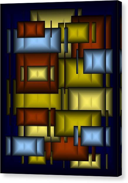 Glass Tile Abstract Canvas Print by Terry Mulligan