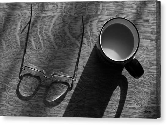 Glasses And Coffee Mug Canvas Print