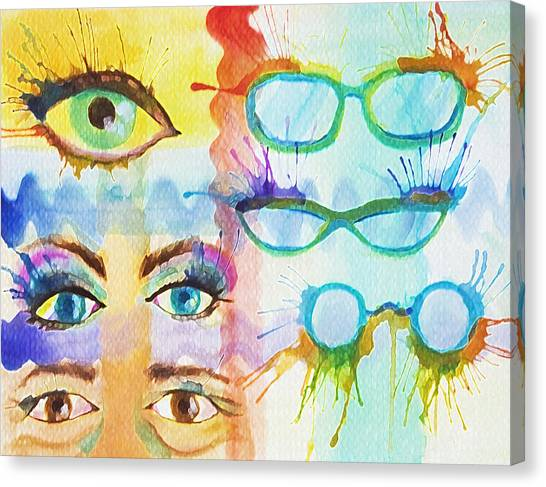 Glasses And Lashes Canvas Print