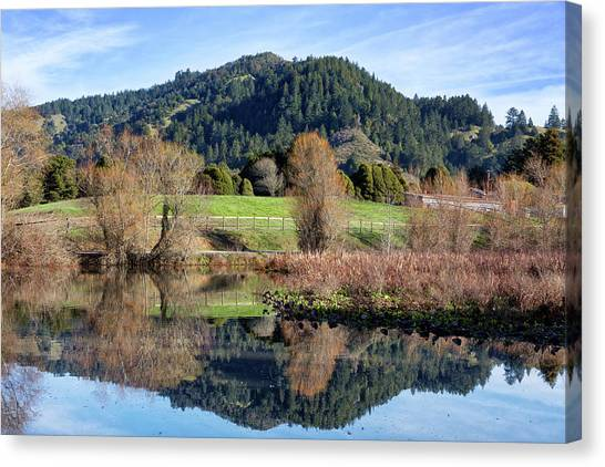 Bishop Hill Canvas Print - Glassy Mountain Reflections by Kathleen Bishop