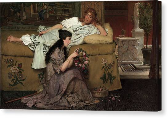 Mount Vesuvius Canvas Print - Glaucus And Nydia, 1867 by Sir Lawrence Alma-Tadema