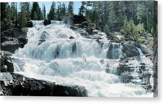 Glen Alpine Falls Mist Canvas Print