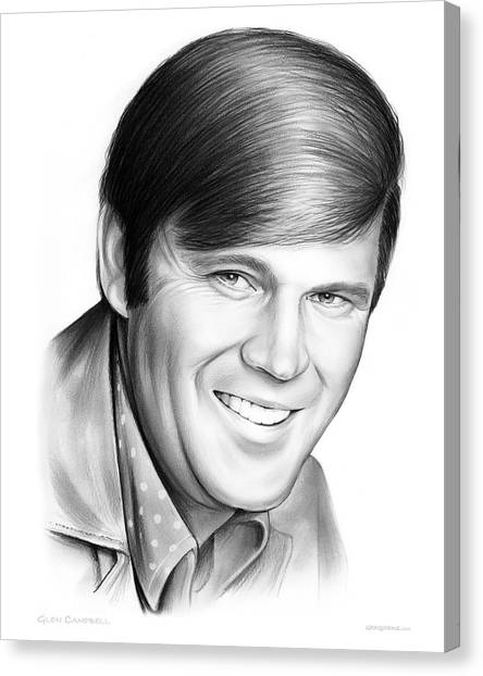 Glen Canvas Print - Glen Campbell by Greg Joens