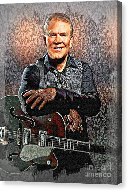 Glen Campbell - Singing Icon Canvas Print
