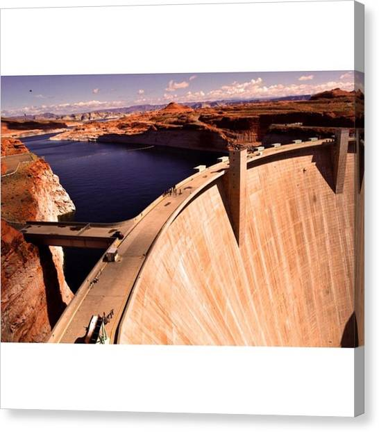 Star Trek Canvas Print - Glen Canyon Dam & Colorado River In by Scotty Brown