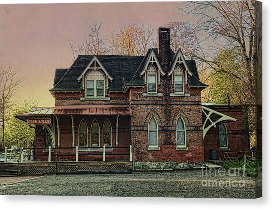 Glen Mill Train Station Canvas Print