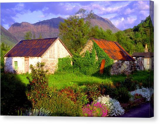 Glencoe Village Canvas Print by John McKinlay