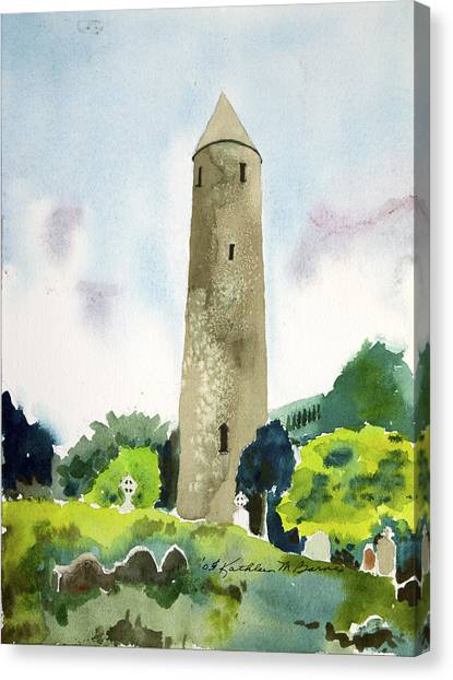 Glendalough Tower Canvas Print