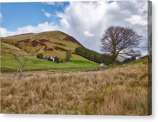 Canvas Print featuring the photograph Glendevon In Central Scotland by Jeremy Lavender Photography