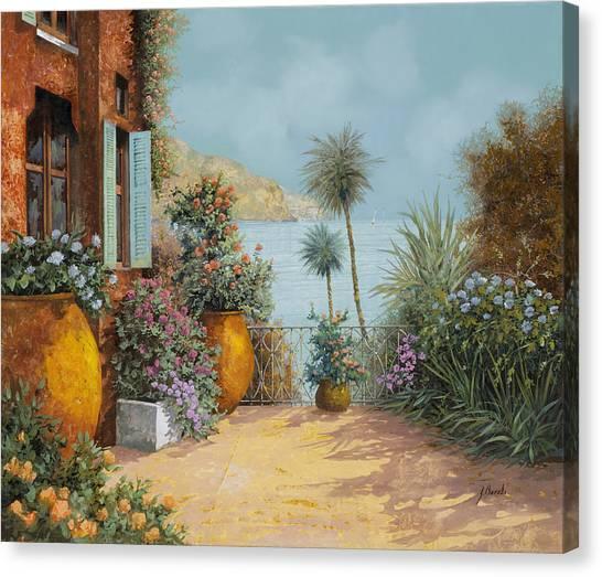 Summer Vacation Canvas Print - Gli Otri Sul Terrazzo by Guido Borelli