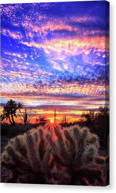 Glimmering Skies Canvas Print