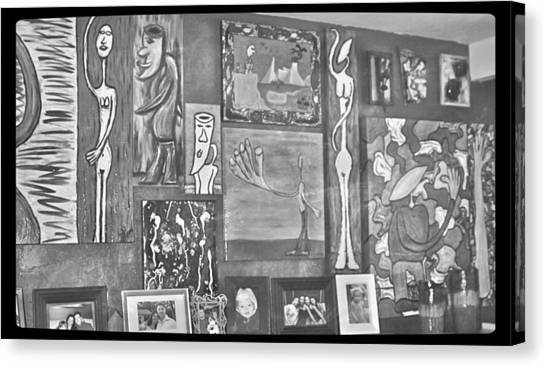 Glimpses Of Where Art Lives 4 Canvas Print