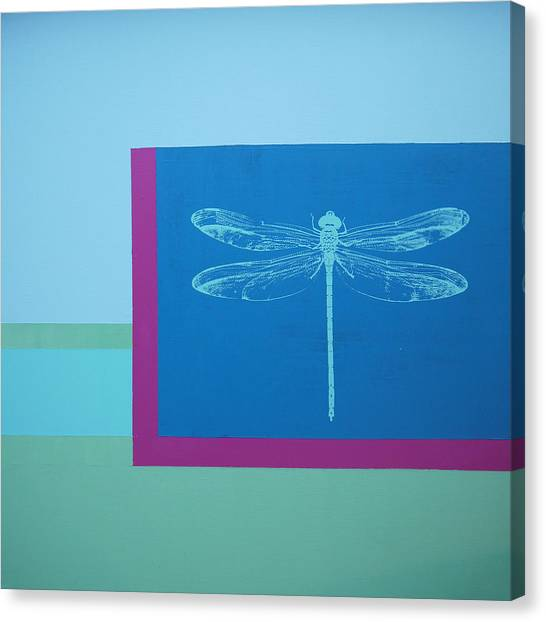 Canvas Print - Glimspe Of Nature-dragonfly by Bitten Kari