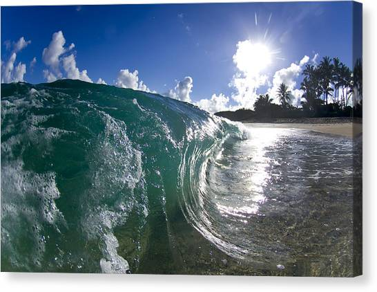 Beach Sunrises Canvas Print - Glitter Curl by Sean Davey