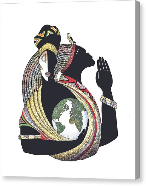 Global Love Canvas Print by Albert and Simone Fennell