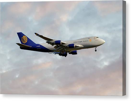 Boeing Canvas Print - Global Supply Sysytems  Boeing 747-47uf by Smart Aviation