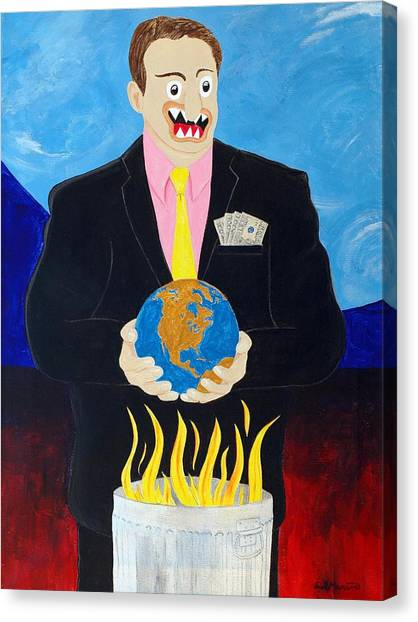 Al Gore Canvas Print - Global Warming Truth by Sal Marino