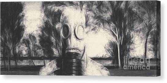 Breathe Canvas Print - Vintage Gas Mask Terror by Jorgo Photography - Wall Art Gallery