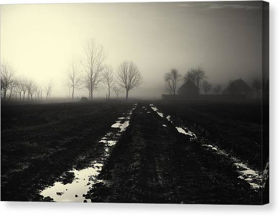 Mud Canvas Print - Gloomily Morning by Mario Pejakovic