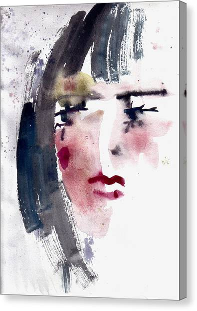 Gloomy Woman  Canvas Print