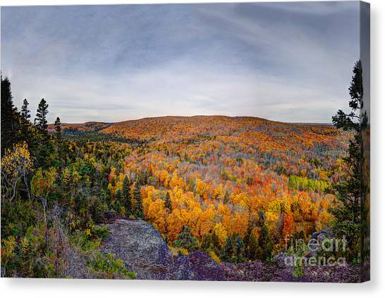 Glorious Autumn Lutsen Mountain Resort North Shore Minnesota Canvas Print
