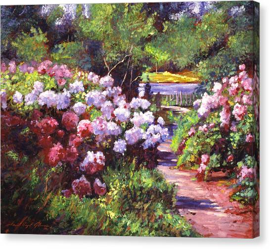 Recommended Canvas Print - Glorious Blooms by David Lloyd Glover