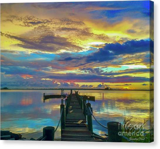 Glorious Dock Canvas Print