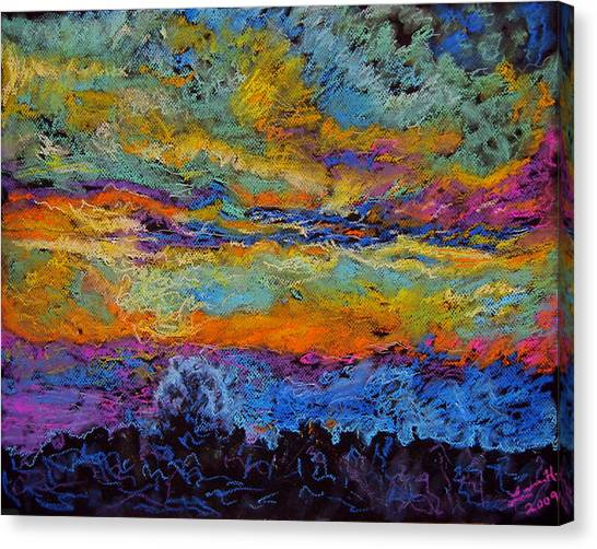 Glorious Sunset 3 Canvas Print by Laura Heggestad