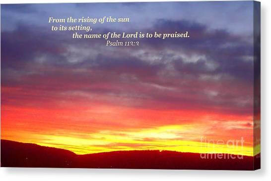 Glory And Praise  Canvas Print